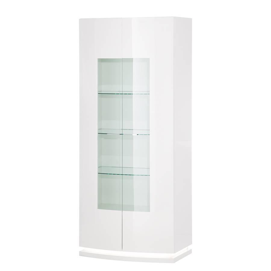 vitrinenschrank brio inkl beleuchtung hochglanz wei. Black Bedroom Furniture Sets. Home Design Ideas