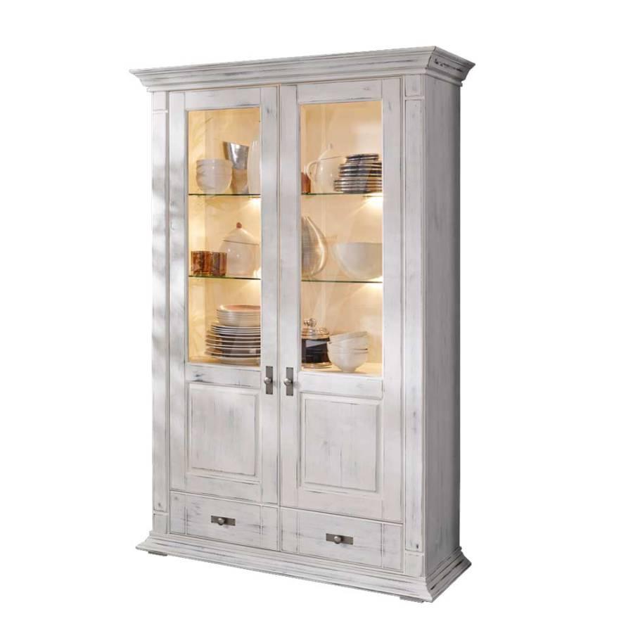 vitrinenschrank fliarina wei antikoptik home24. Black Bedroom Furniture Sets. Home Design Ideas