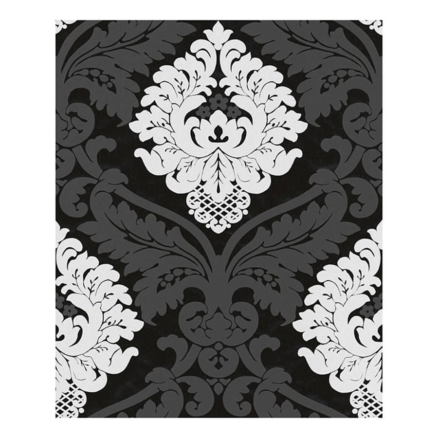 papier peint intiss modern baroque noir blanc. Black Bedroom Furniture Sets. Home Design Ideas