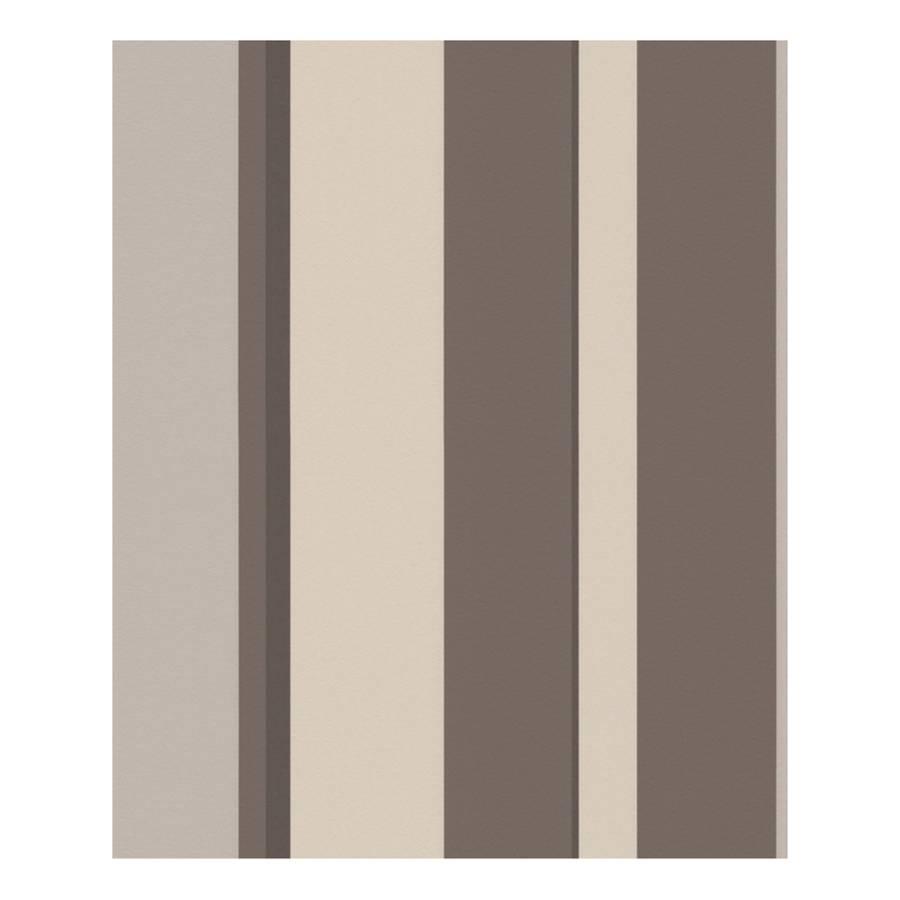vliestapete stripes braun perlwei home24. Black Bedroom Furniture Sets. Home Design Ideas