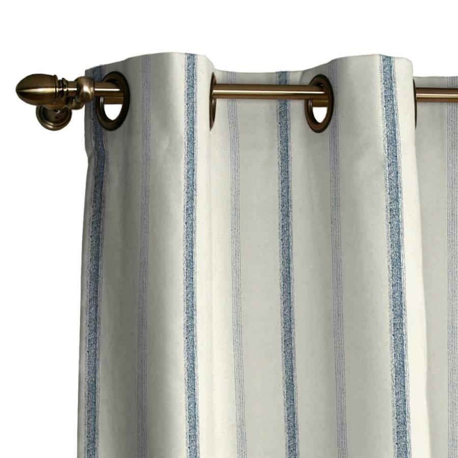 vorhang mit sen creme blau streifen home24. Black Bedroom Furniture Sets. Home Design Ideas