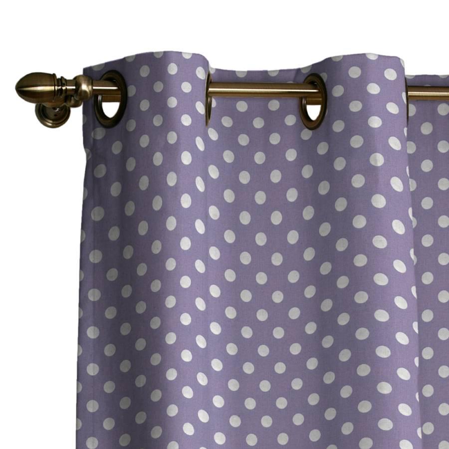 Vorhang mit sen violett wei getupft for Home24 gardinen