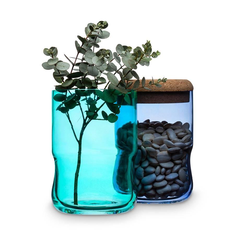 vorratsglas aqua mundgeblasenes glas korkdeckel blau home24. Black Bedroom Furniture Sets. Home Design Ideas