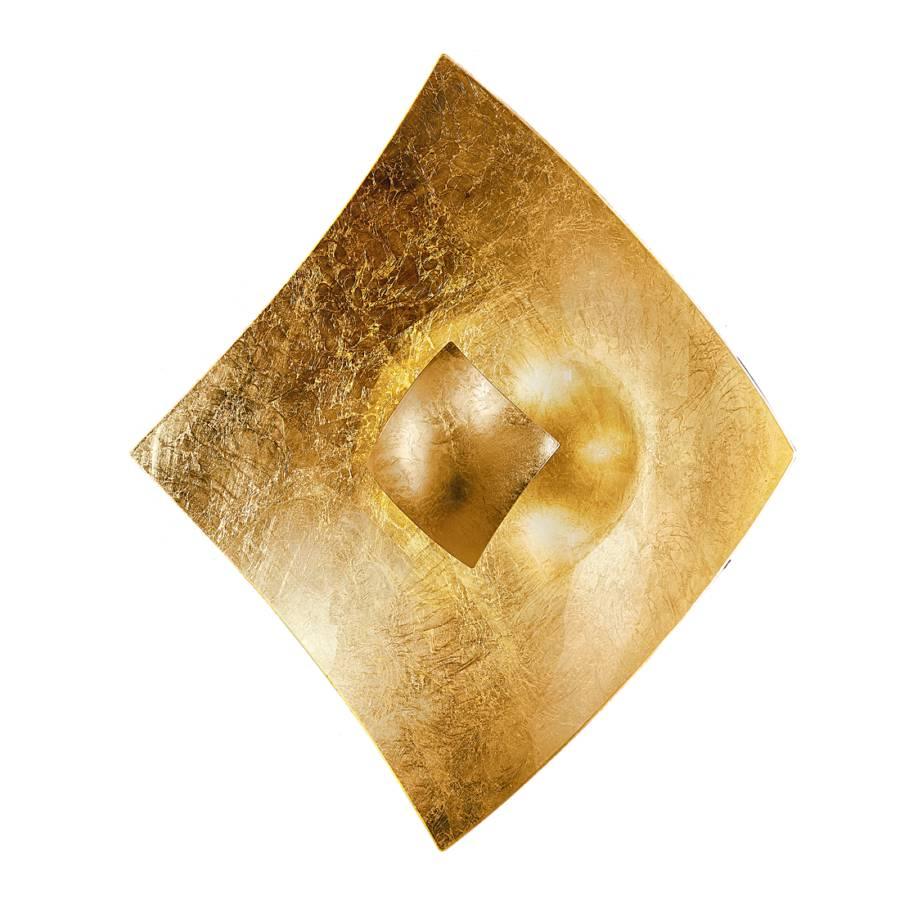 Deckenleuchte quadrangolo gold metall glas home24 for Deckenleuchte gold