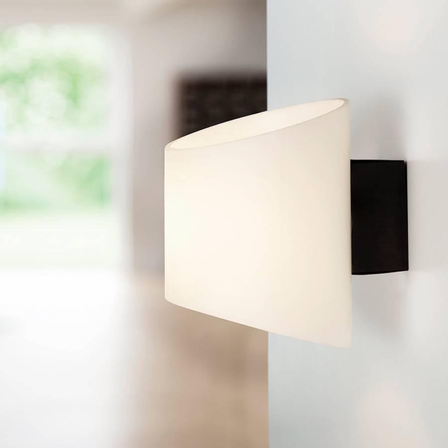 wandleuchte evoke metall glas schwarz 1 flammig home24. Black Bedroom Furniture Sets. Home Design Ideas