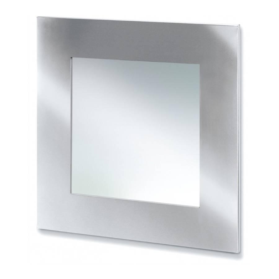 Spiegel muro vierkant roestvrij staal - Dressoir roestvrij tailor ...