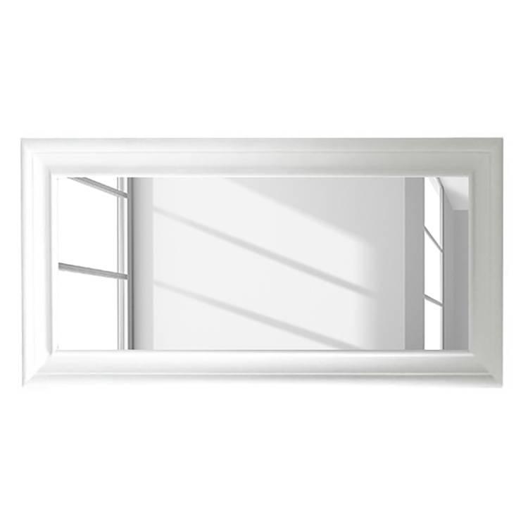 Miroir mural skagen blanc for Miroir blanc mural