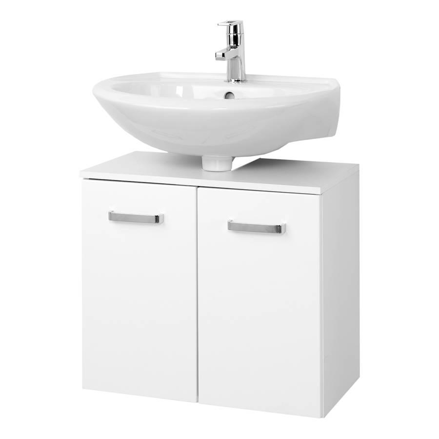 Meuble sous vasque zeehan i blanc 60 cm for Meuble sous vasque bois 60 cm