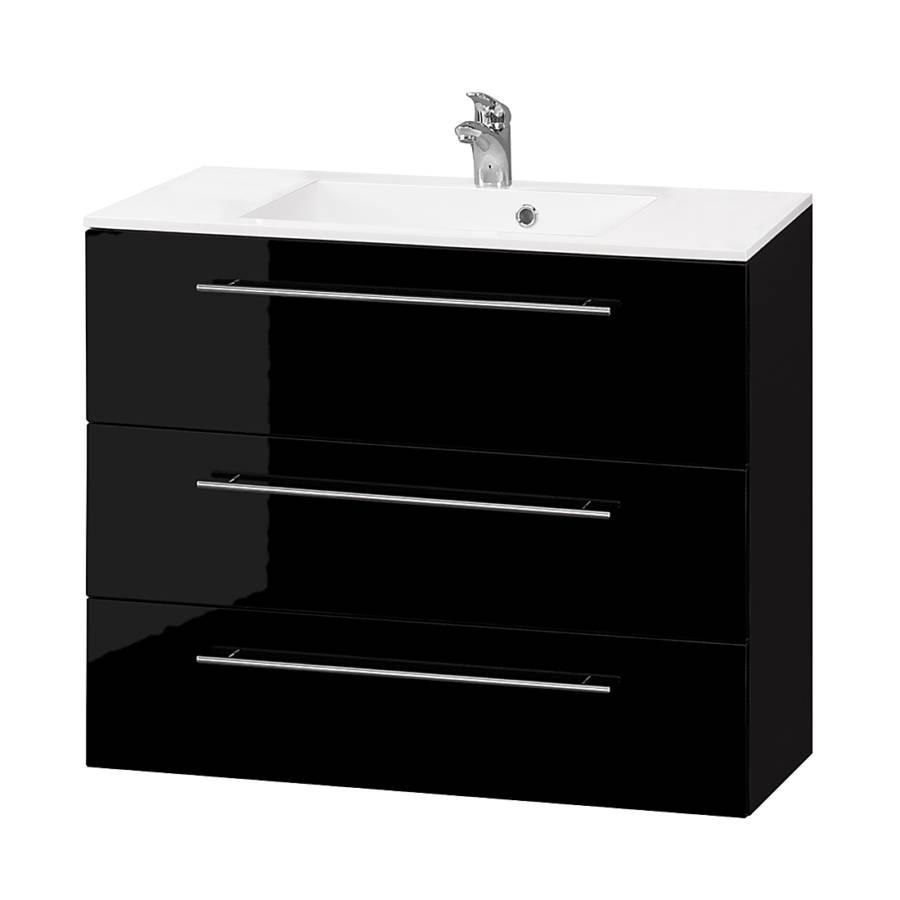 Meuble lavabo bern iv noir for Meuble lavabo noir
