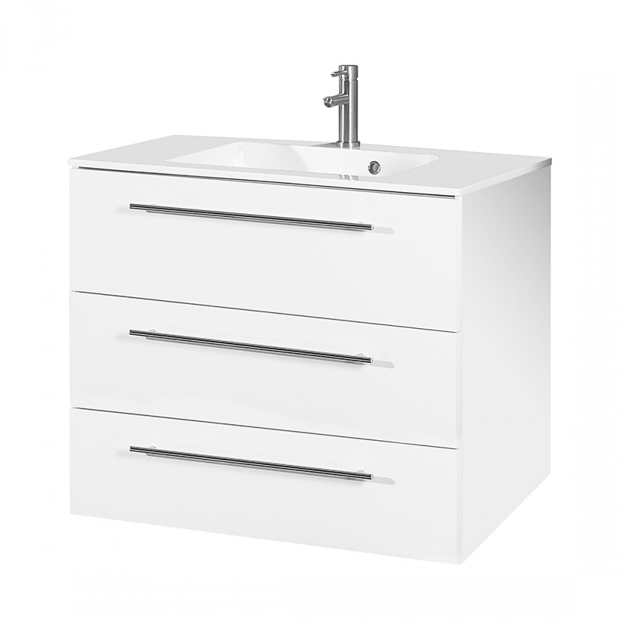 Meuble lavabo bern iv blanc for Meuble lavabo blanc