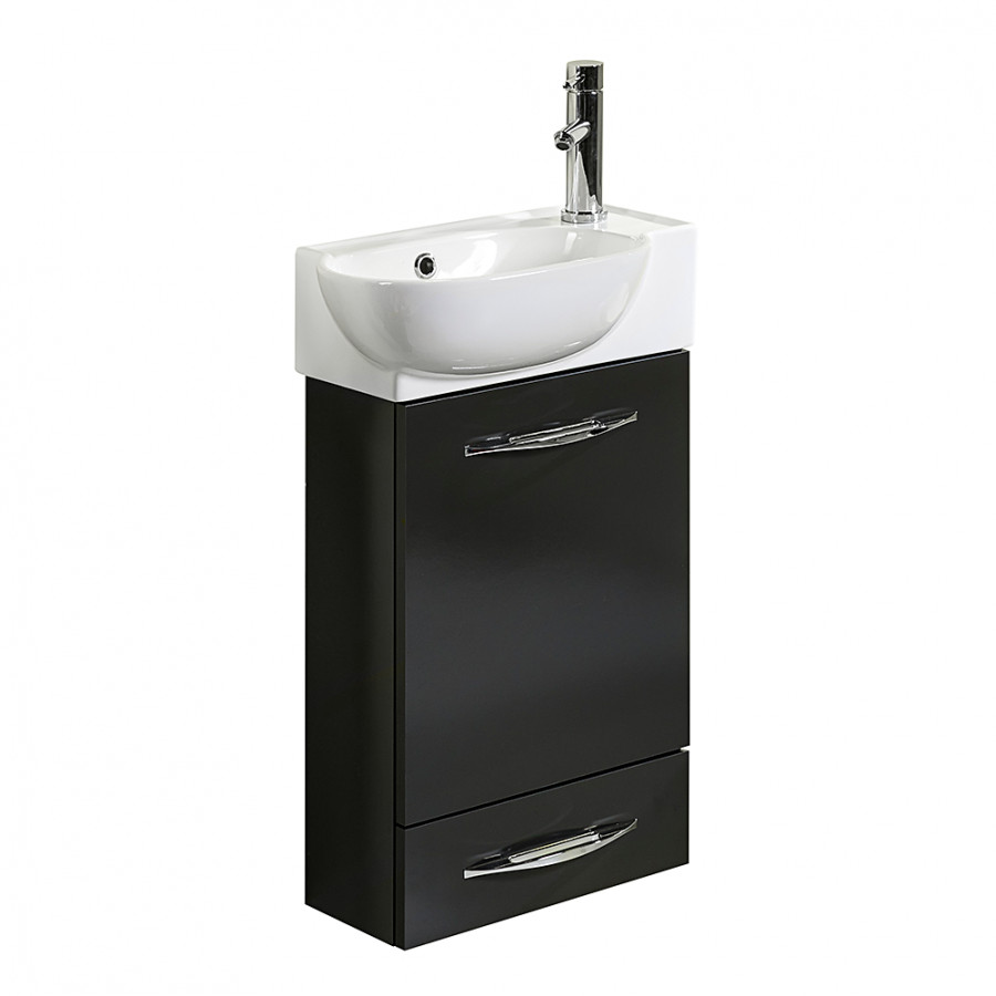 Ensemble meuble lavabo gusi anthracite brillant for Ensemble meuble lavabo