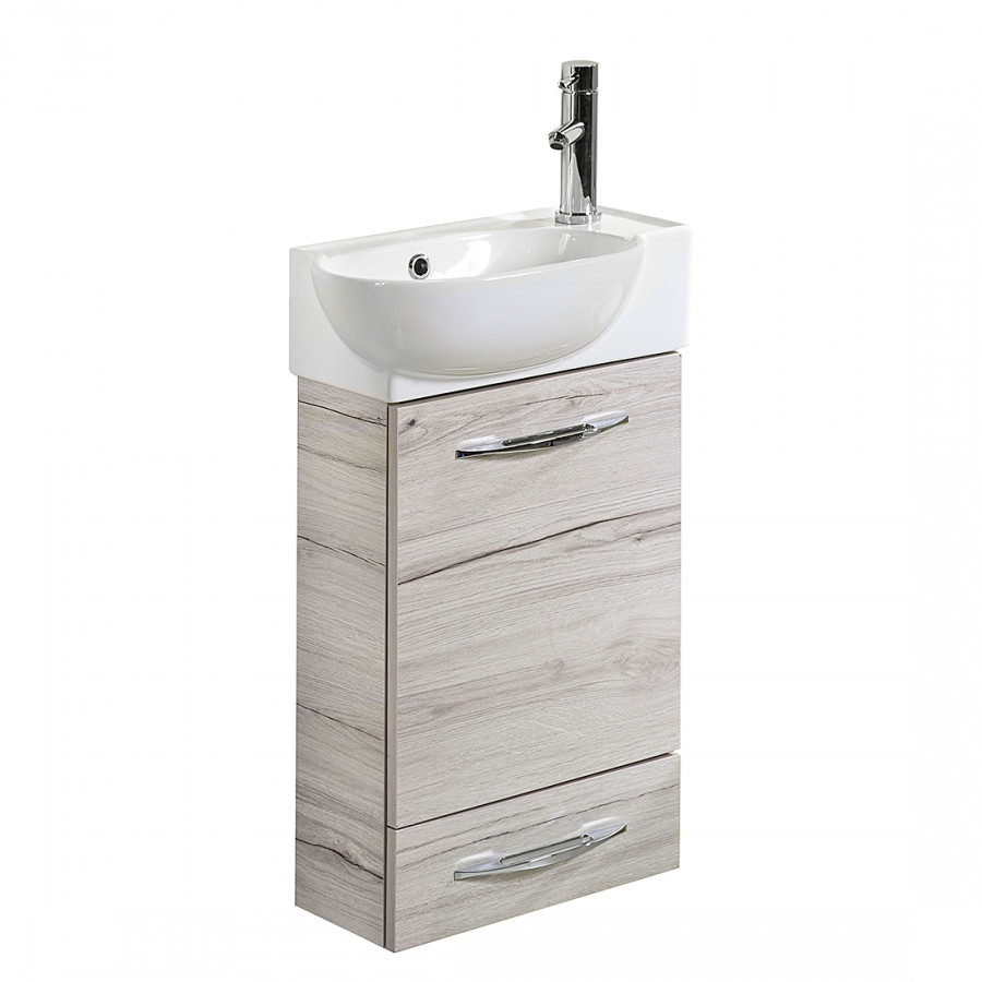 Ensemble meuble lavabo gusi imitation ch ne blanchi - Ensemble lavabo meuble ...