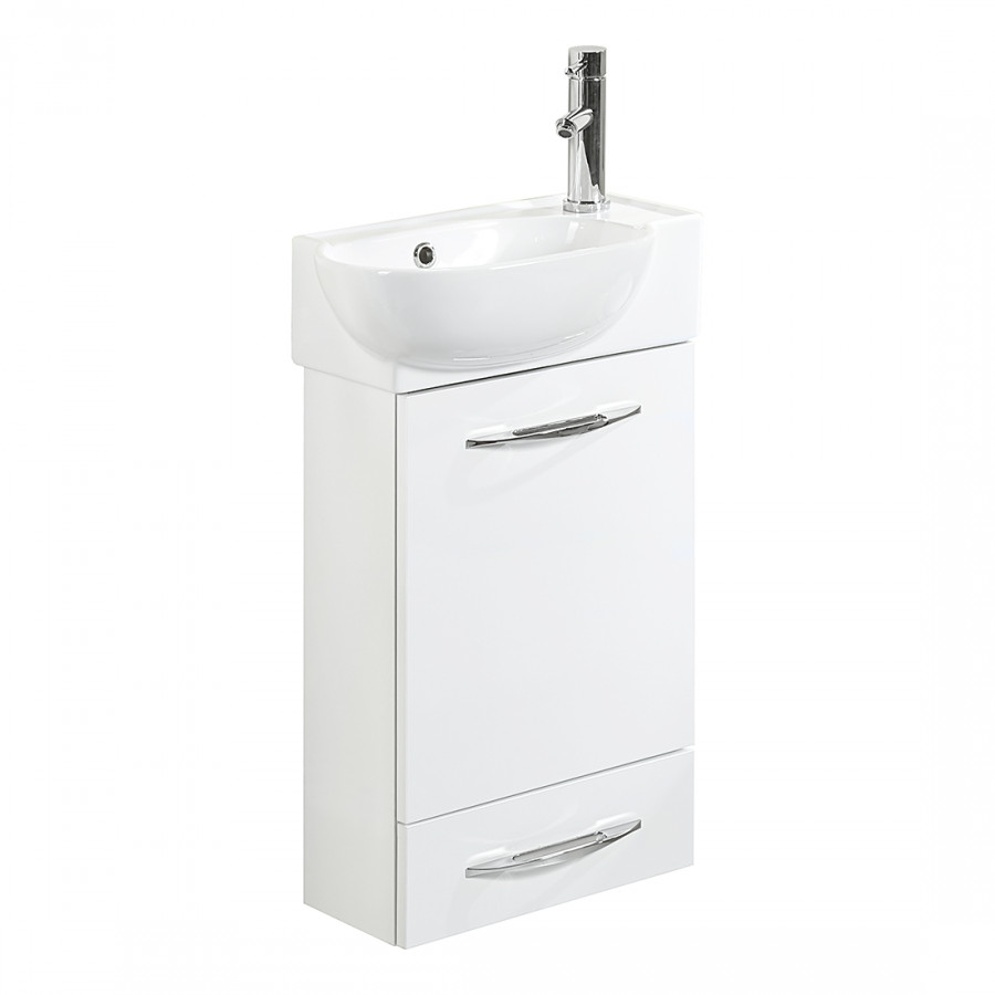 Ensemble meuble lavabo gusi blanc brillant for Ensemble meuble lavabo