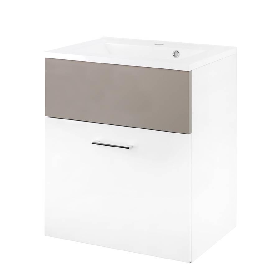waschtisch helsinki hochglanz wei sandgrau home24. Black Bedroom Furniture Sets. Home Design Ideas