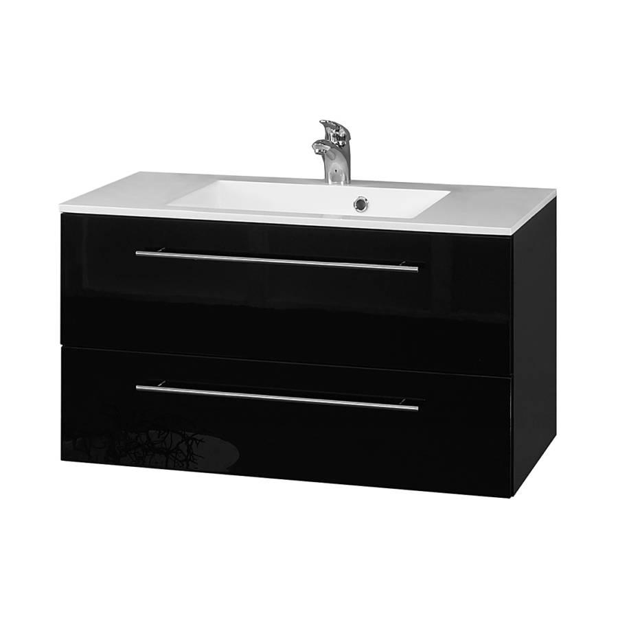 Meuble lavabo bern iii noir for Meuble lavabo noir