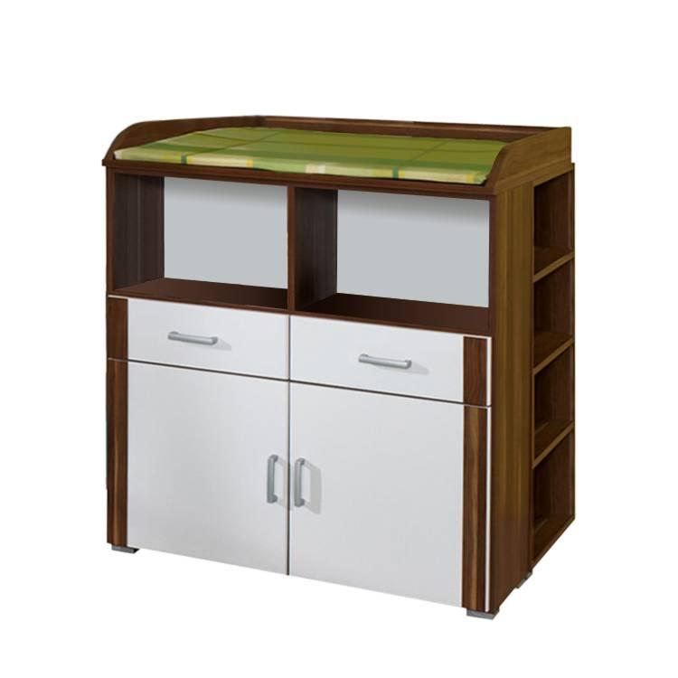 wickelkommode tammy alpinwei nussbaum home24. Black Bedroom Furniture Sets. Home Design Ideas