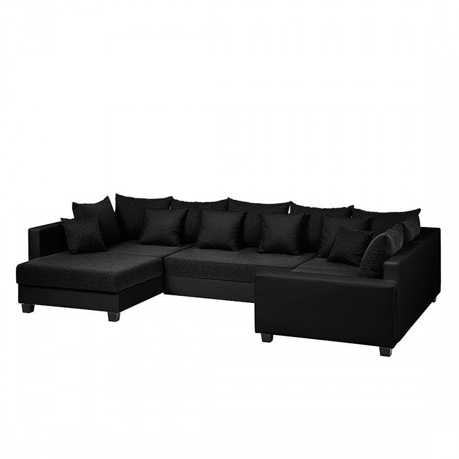 wohnlandschaft cannes kunstleder stoff home24. Black Bedroom Furniture Sets. Home Design Ideas