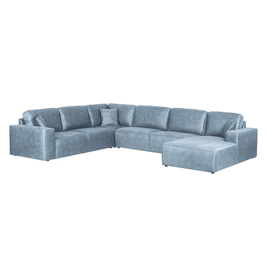 Jetzt bei home24 sofa wohnlandschaft von loftscape home24 for Blaue wohnlandschaft