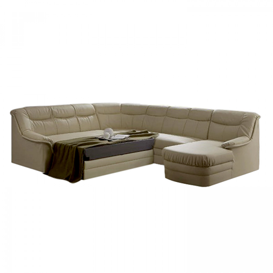 Canap panoramique wei ensee convertible design marron for Canape panoramique