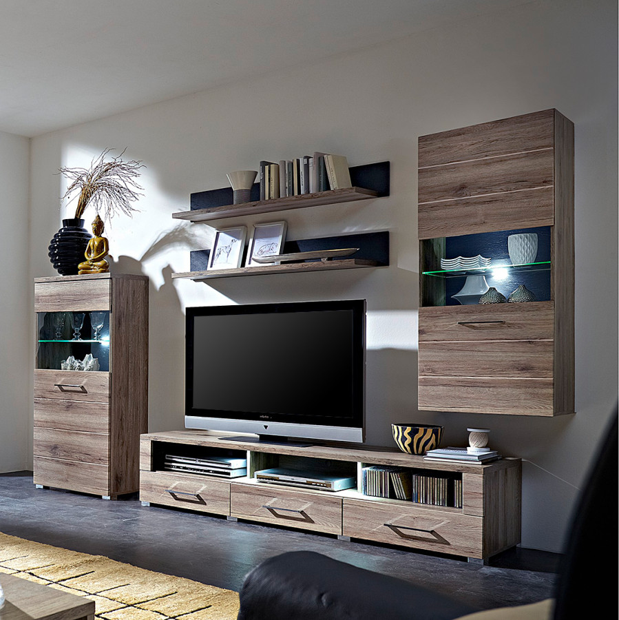 modoform wohnwand f r ein modernes zuhause home24. Black Bedroom Furniture Sets. Home Design Ideas