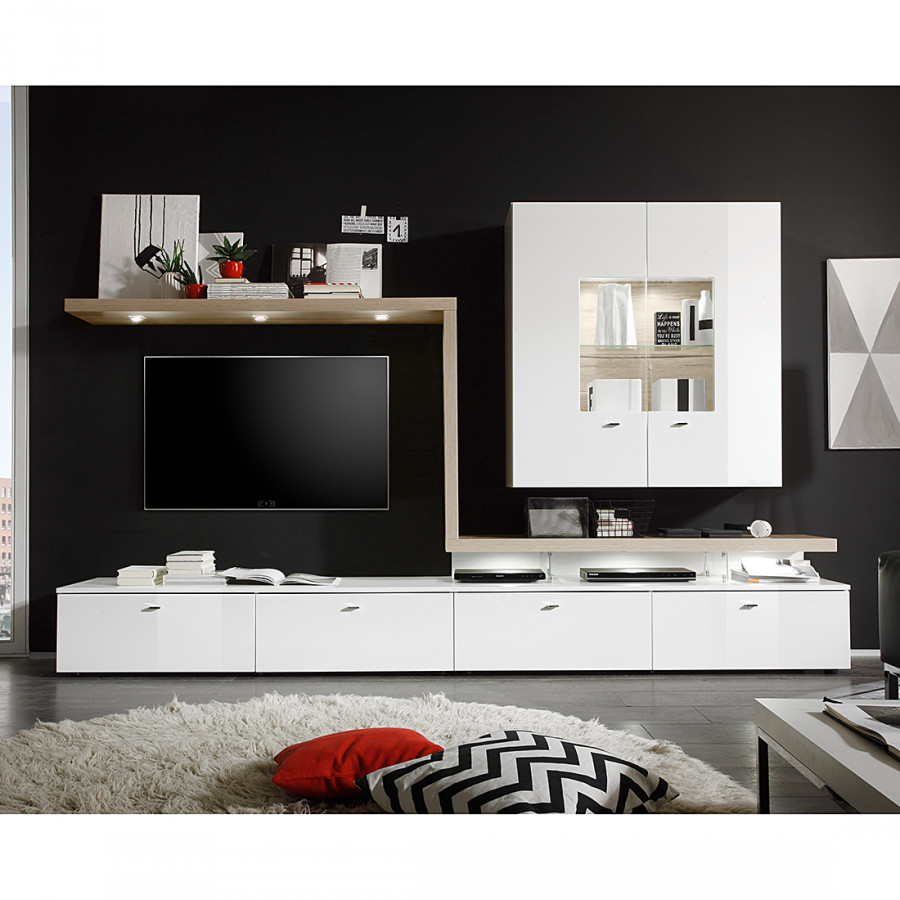 roomscape wohnwand f r ein modernes heim home24. Black Bedroom Furniture Sets. Home Design Ideas