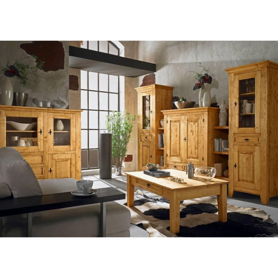 wohnwand cottage fichte massiv home24. Black Bedroom Furniture Sets. Home Design Ideas