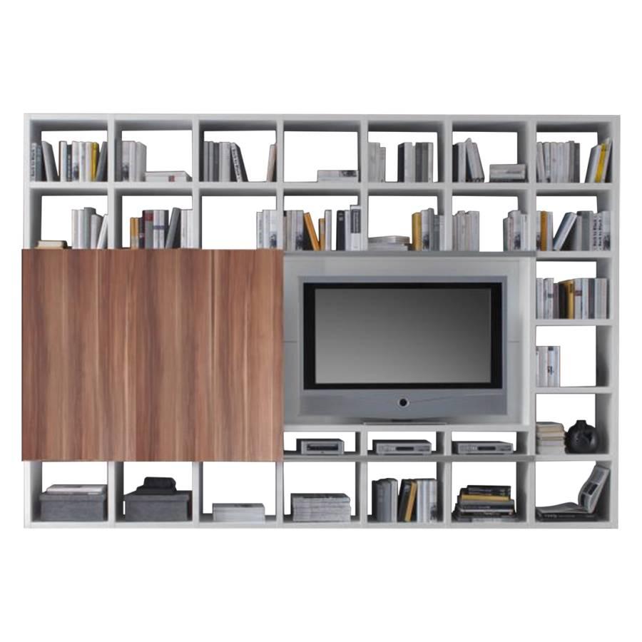 wohnwand empire wei hochglanz home24. Black Bedroom Furniture Sets. Home Design Ideas
