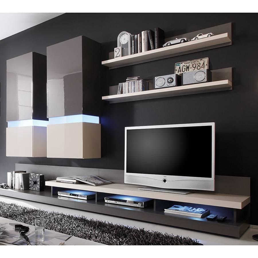Jetzt bei home24 designerwohnwand von california home24 for Wohnwand 1 teilig