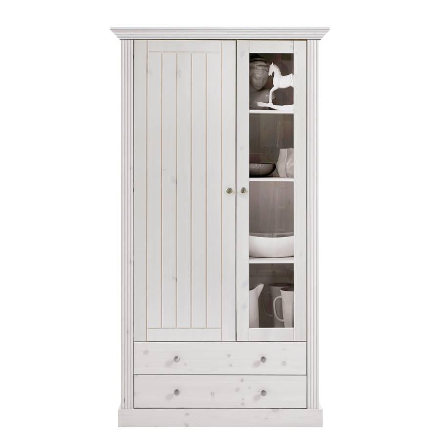 armoire vitrine lyngby ii pin massif. Black Bedroom Furniture Sets. Home Design Ideas