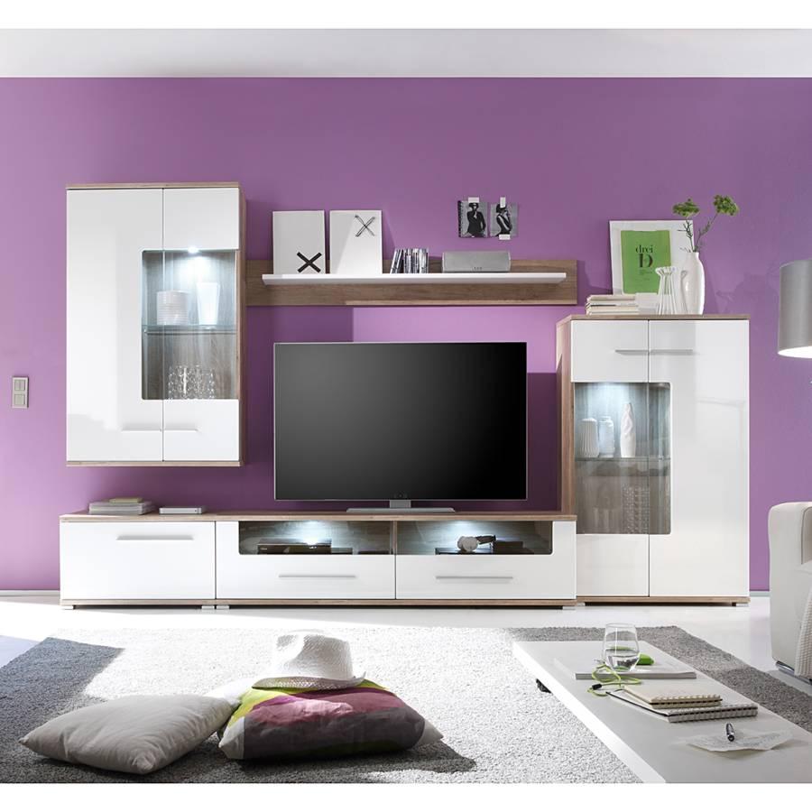 Modoform wohnwand f r ein klassisches zuhause home24 for Braune wohnwand