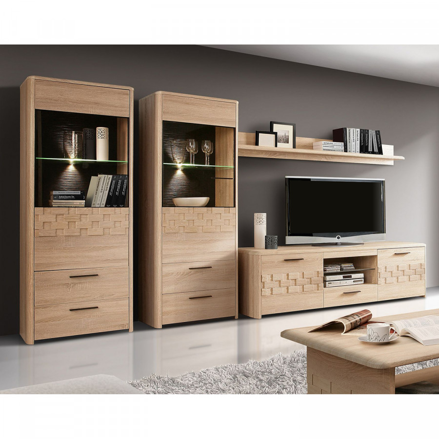 wohnwand dunkelbraun interior design und m bel ideen. Black Bedroom Furniture Sets. Home Design Ideas