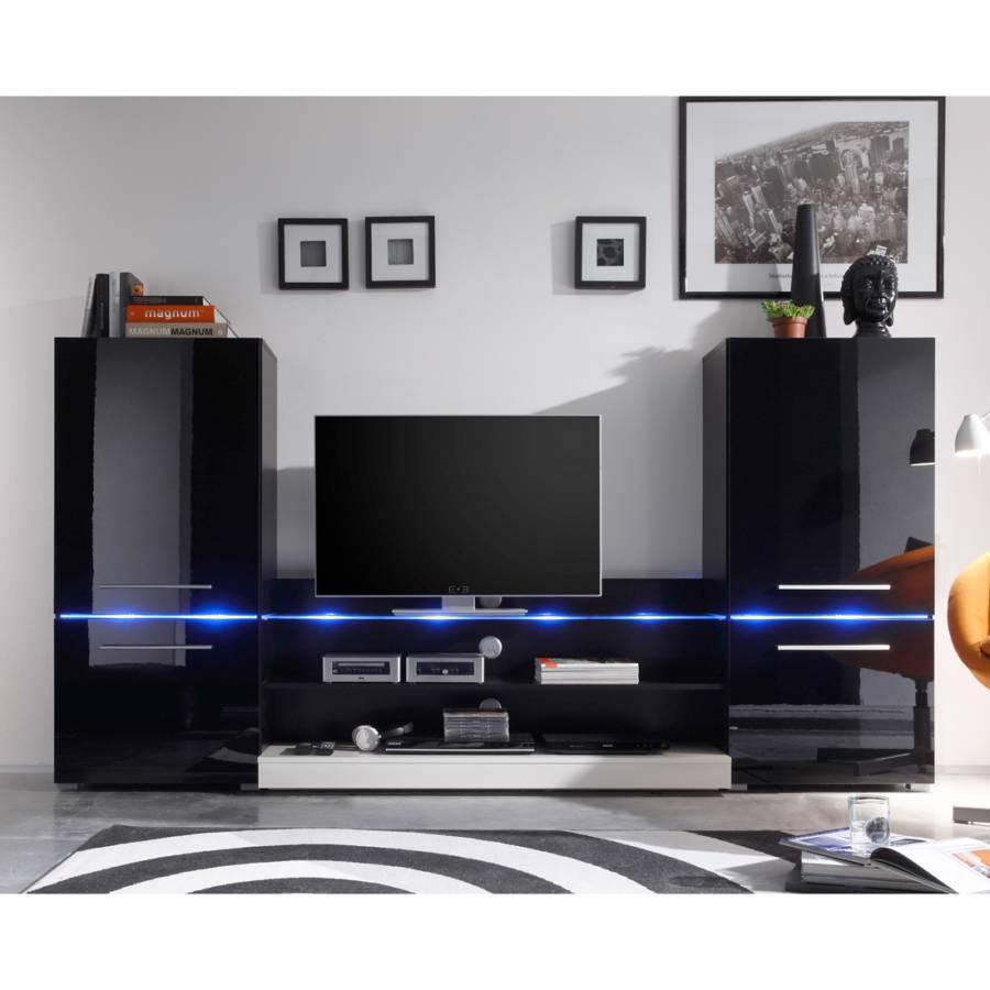 Wohnwand von roomscape bei home24 bestellen home24 for Wohnwand modern schwarz