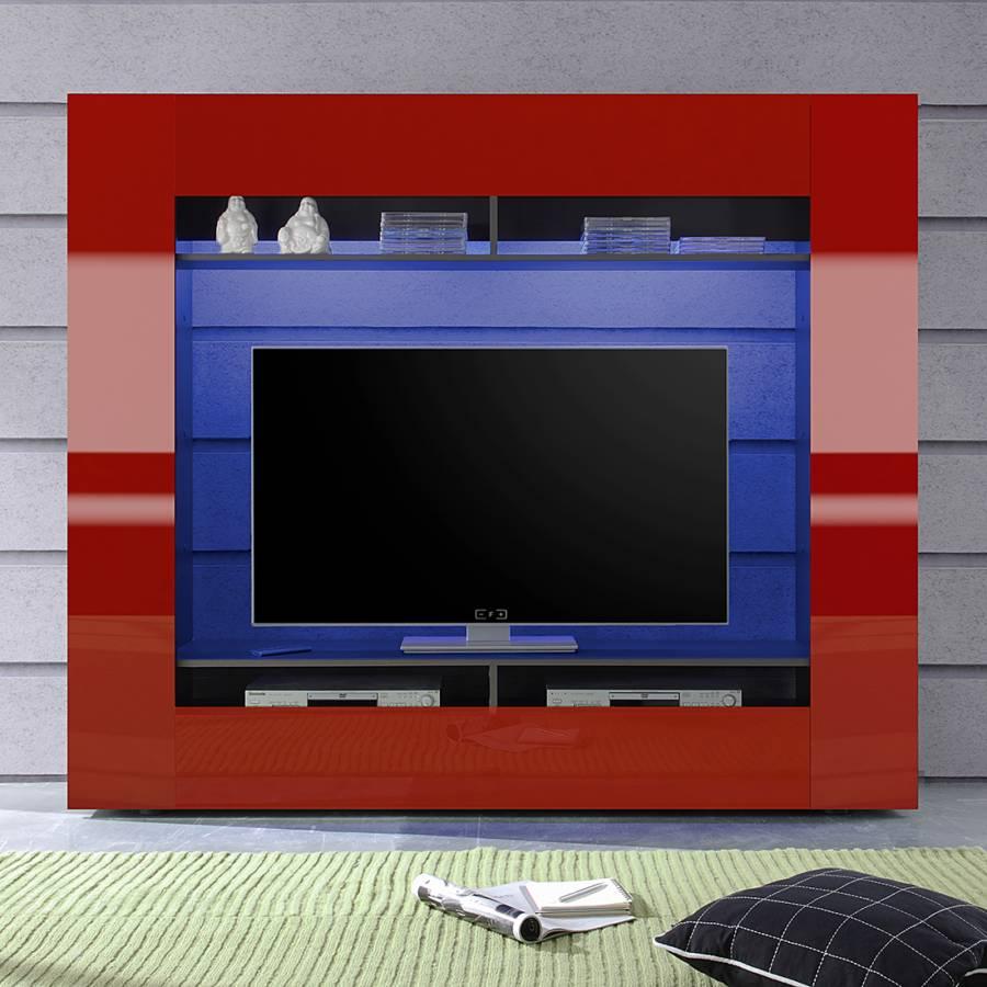 Jetzt bei home24 tv mediaschrank von roomscape home24 for Wohnwand rot