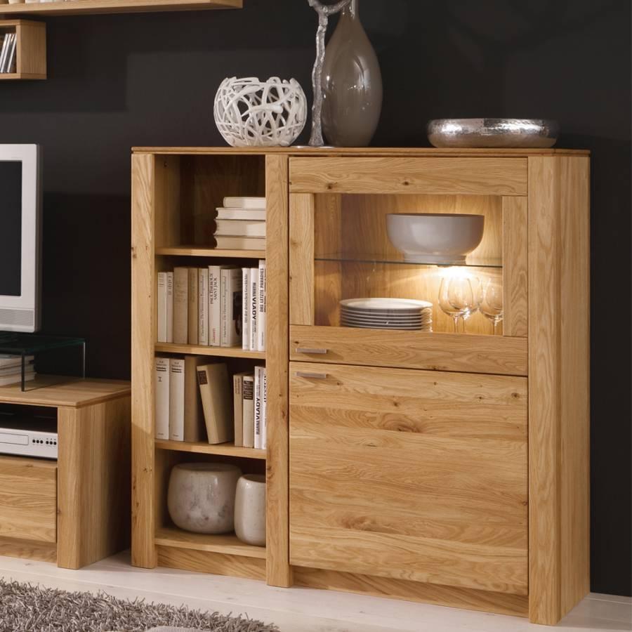 wohnwand paradise eiche home24. Black Bedroom Furniture Sets. Home Design Ideas