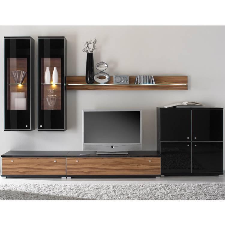 wohnwand schwarz hochglanz angebote auf waterige. Black Bedroom Furniture Sets. Home Design Ideas