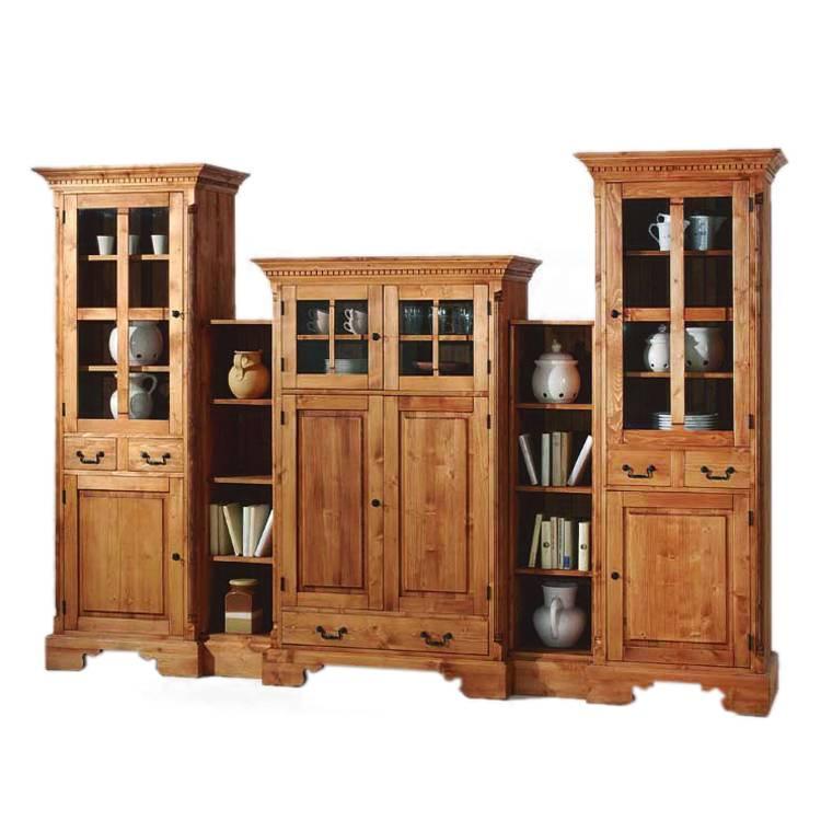 wohnwand porto fichte massiv home24. Black Bedroom Furniture Sets. Home Design Ideas