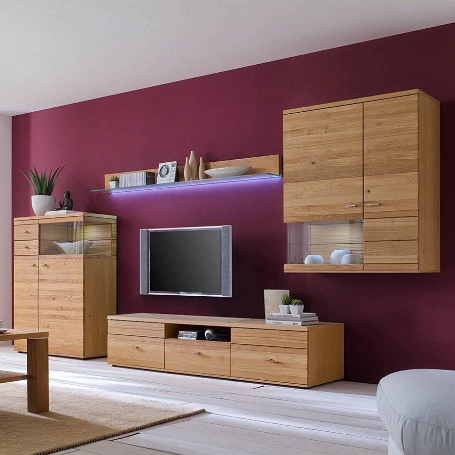 wohnwand rio i 4 teilig wildeiche teilmassiv home24. Black Bedroom Furniture Sets. Home Design Ideas