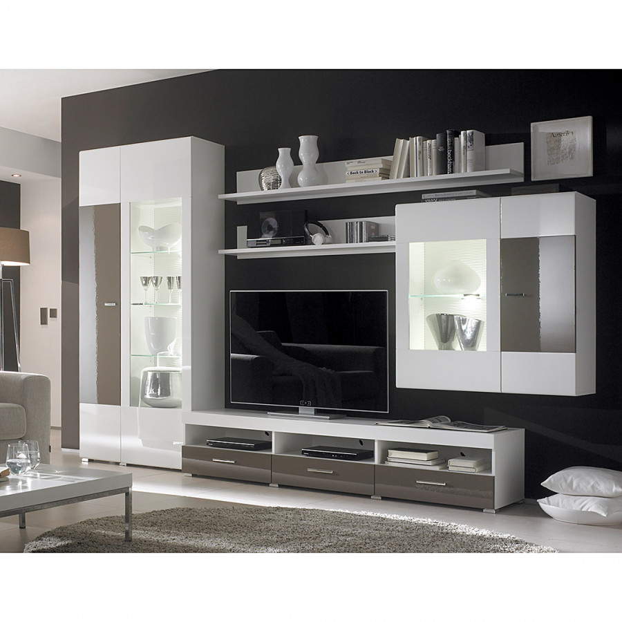 schrankwand akazie weiss braun beste bildideen zu hause design. Black Bedroom Furniture Sets. Home Design Ideas