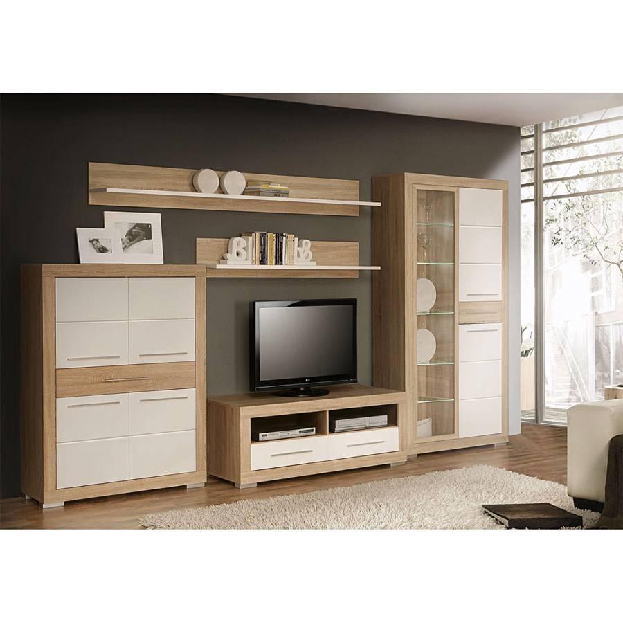 wohnwand straight 5 teilig kaufen home24. Black Bedroom Furniture Sets. Home Design Ideas