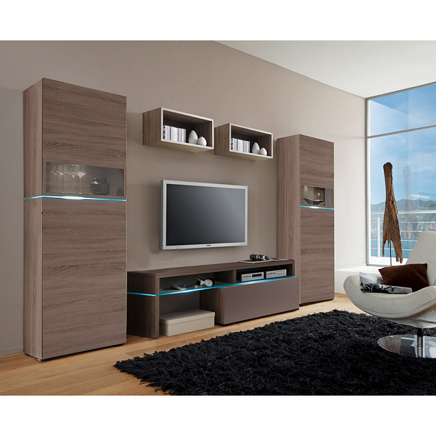 wohnwand colourart 5 teilig lava kaufen home24. Black Bedroom Furniture Sets. Home Design Ideas