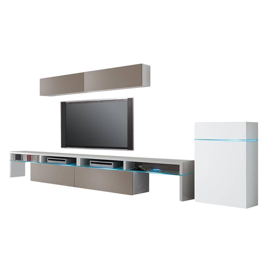 Wohnwand Elemente Style : Wohnwand colourart teilig weiß congo kaufen home