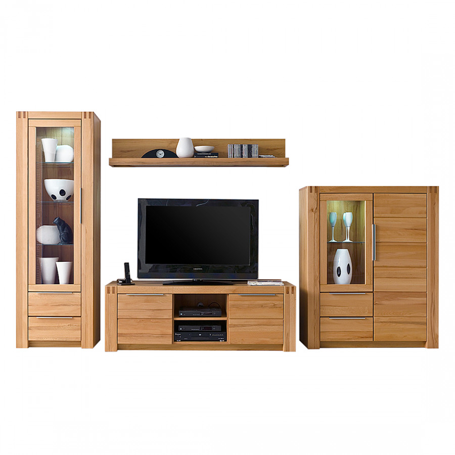 wohnwand holz massiv die neuesten innenarchitekturideen. Black Bedroom Furniture Sets. Home Design Ideas