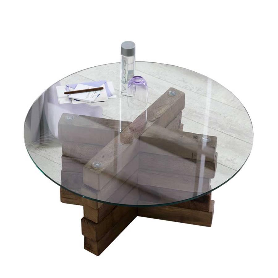 wohnzimmertisch vosprano altholz glas home24. Black Bedroom Furniture Sets. Home Design Ideas