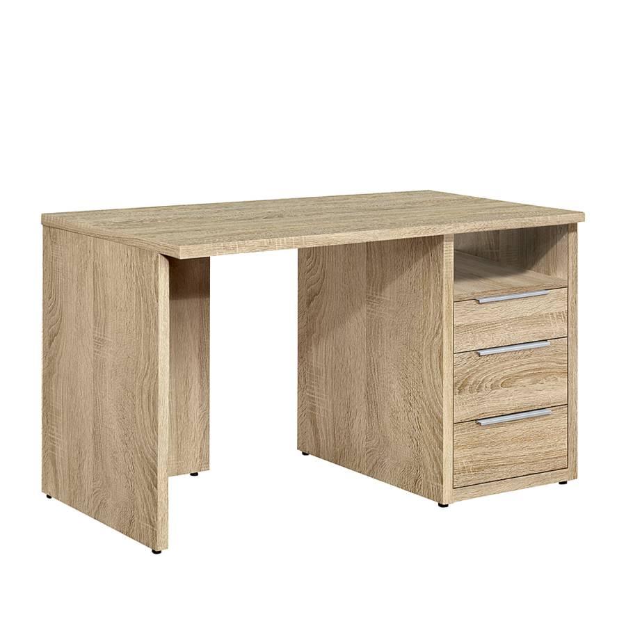 Schreibtisch work mit 3 schubladen im eiche dekor home24 for Schreibtisch eiche dekor