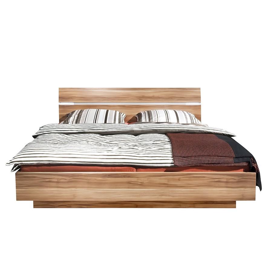 arte m bed choice - hoofdeinde optisch zwevend notenhout (120x200, Hause deko