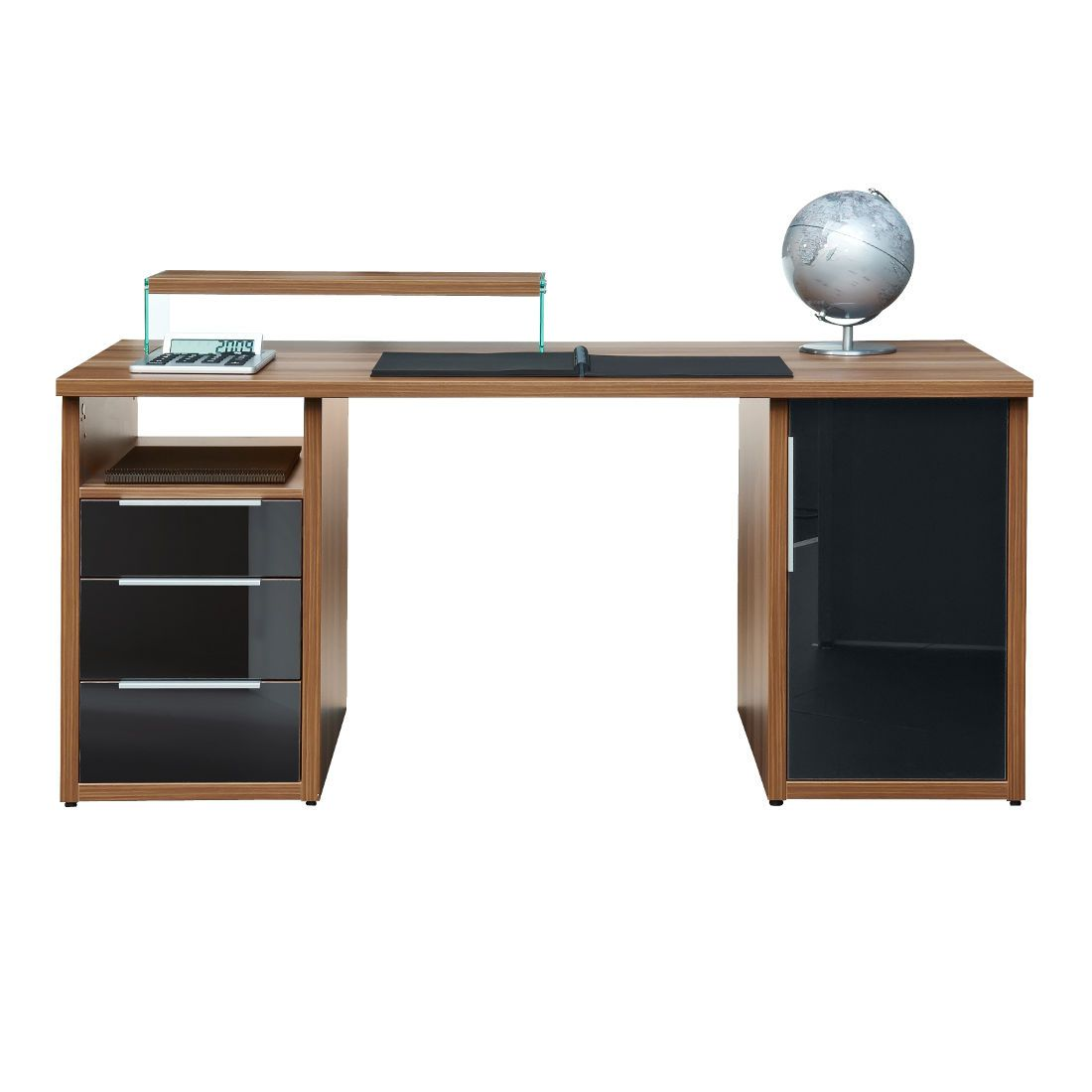arte m bureau work elegante materiaalmix 3 lades 1 deur bij woonboulevard xl de mooiste. Black Bedroom Furniture Sets. Home Design Ideas