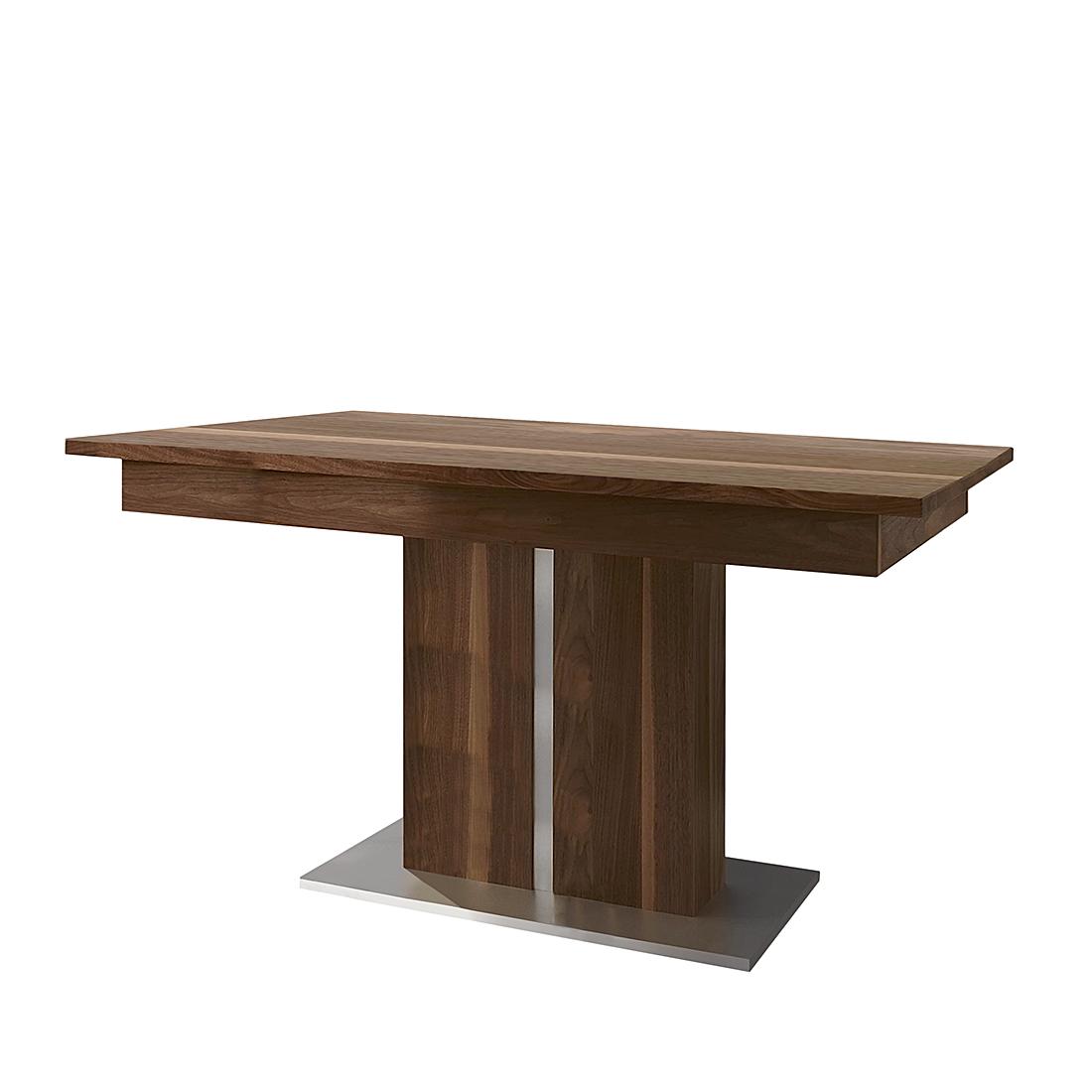 Niehoff Uitschuifbare tafel Venus -wilde notenboom (Afmetingen: 130cm (175) x90cm) Home24