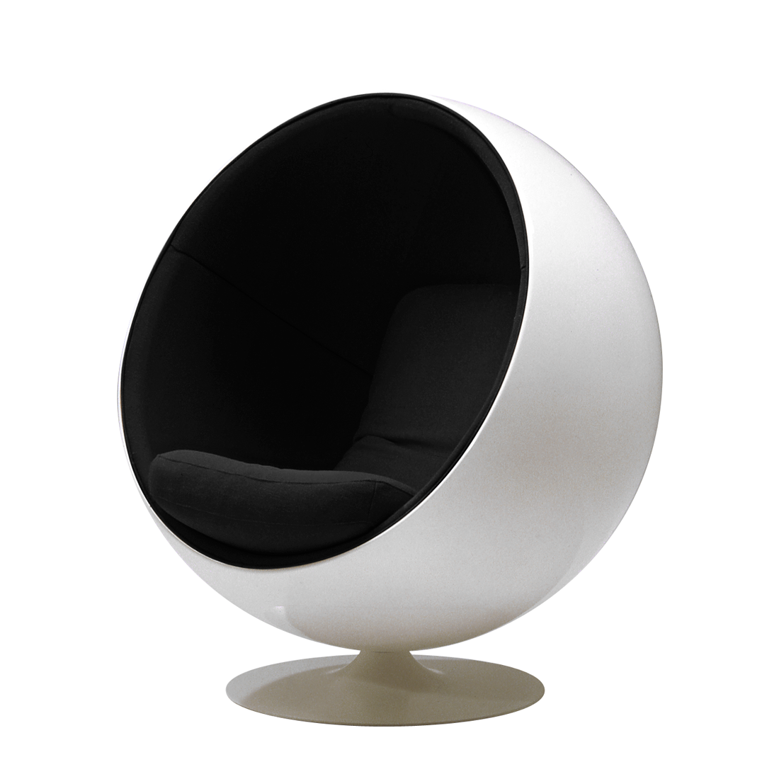 sessel ball chair adelta g nstig kaufen wei schwarz. Black Bedroom Furniture Sets. Home Design Ideas