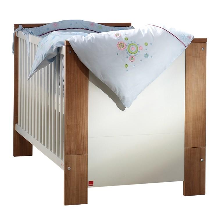 shopendix.de | Babymöbel | Babybett Cube - Weiß/Nussbaum-Dekor ... | {Babymöbel günstig 59}