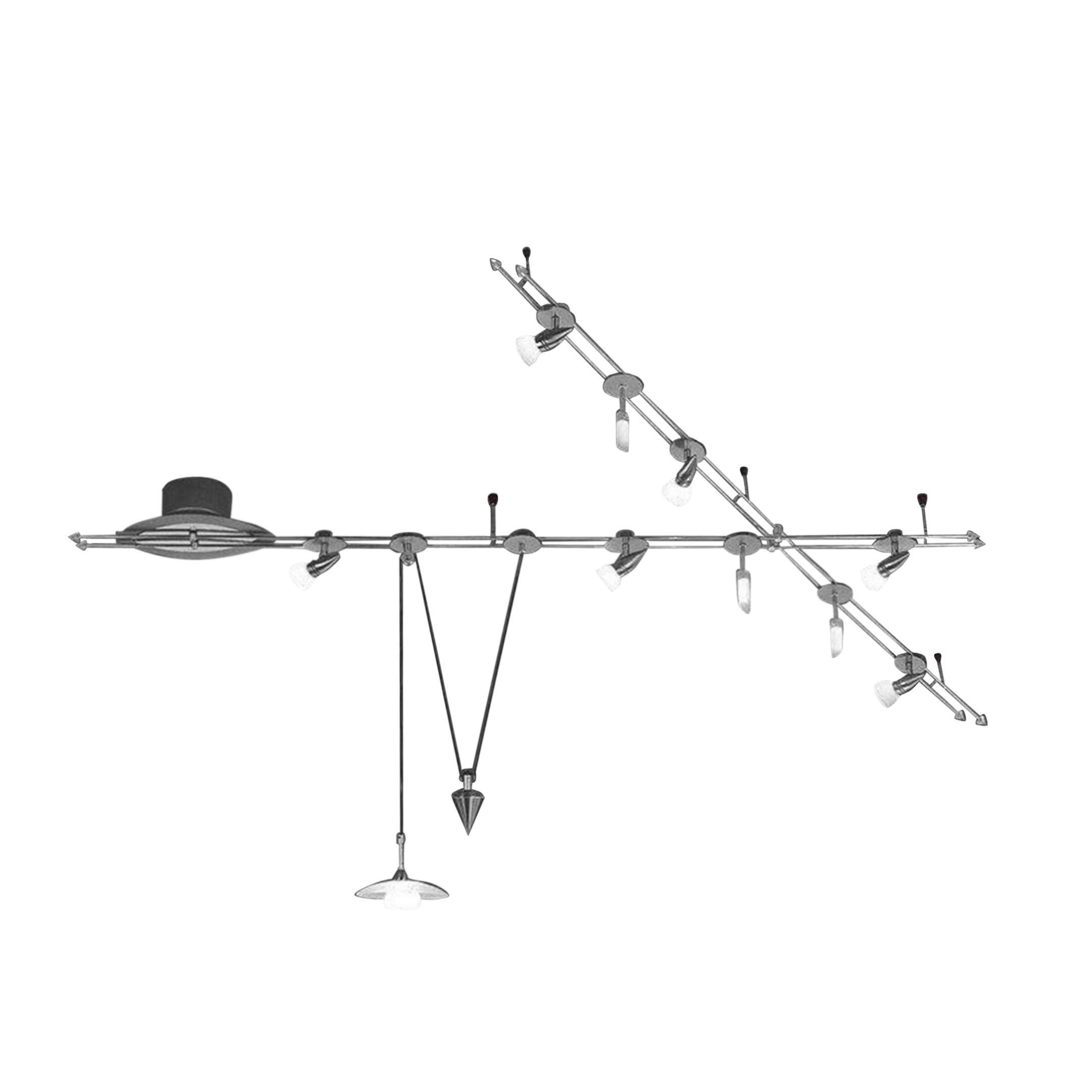 wofi leuchten wofi tangens 158 deckenstrahler nickel matt 10 flammig preisvergleich g nstig. Black Bedroom Furniture Sets. Home Design Ideas